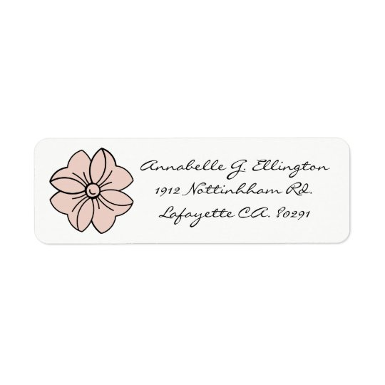 CHIC LABEL_PALE DOGWOOD PINK BOW ON WHITE