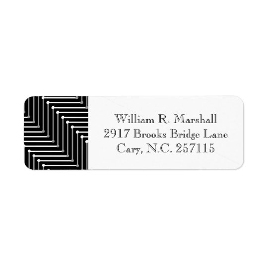 CHIC LABELS_BLACK/WHITE/GREY ZIGZAG