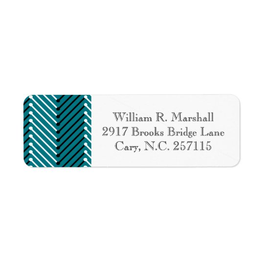 CHIC LABELS_BLACK/WHITE/TEAL ZIGZAG RETURN ADDRESS LABEL