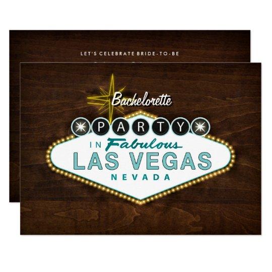 Chic Las Vegas Sign Bachelorette Party Invitation