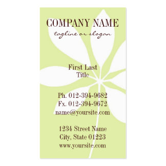 chic leaf pack of standard business cards