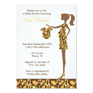 Chic Leopard Print Baby Shower Invitation