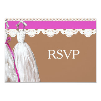 Chic Lesbian Gay Wedding RSVP Two Brides 9 Cm X 13 Cm Invitation Card