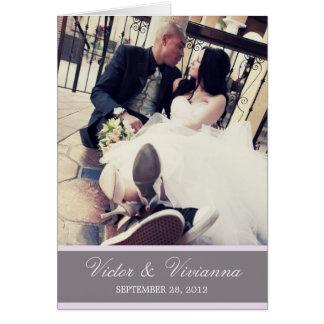 CHIC LILAC GRATITUDE | FOLDED WEDDING THANK YOU CARD