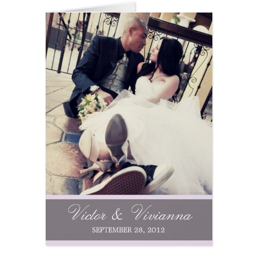 CHIC LILAC GRATITUDE | FOLDED WEDDING THANK YOU CARDS
