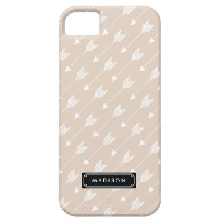 Chic Linen Beige Tribal Arrows Personalized iPhone 5 Case
