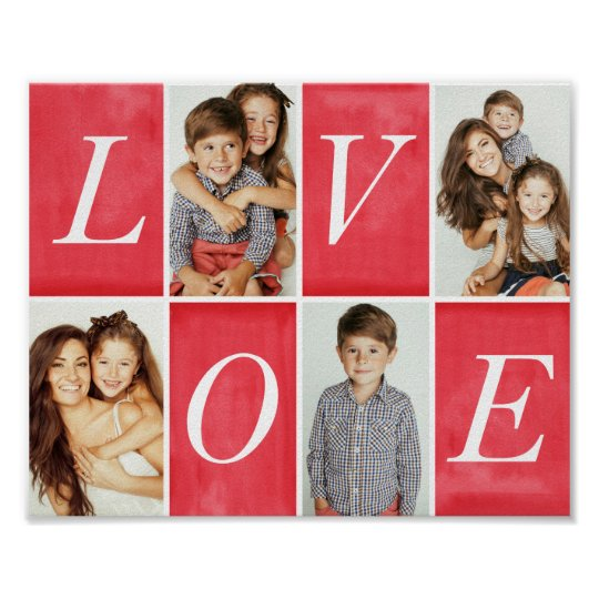 Chic Love 4 Photo Collage Poster