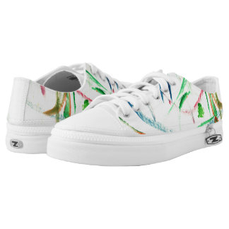CHIC LOW TOP ZIPZ_ORIGINAL PAINTED ABSTRACT PRINTED SHOES