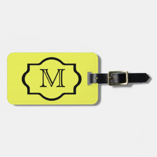 CHIC LUGGAGE/BAG/GIFT/TAG  590 YELLOW/BLACK LUGGAGE TAG
