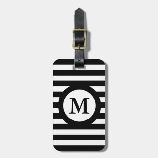 CHIC LUGGAGE/BAG TAG_07 BLACK/WHITE STRIPES LUGGAGE TAG
