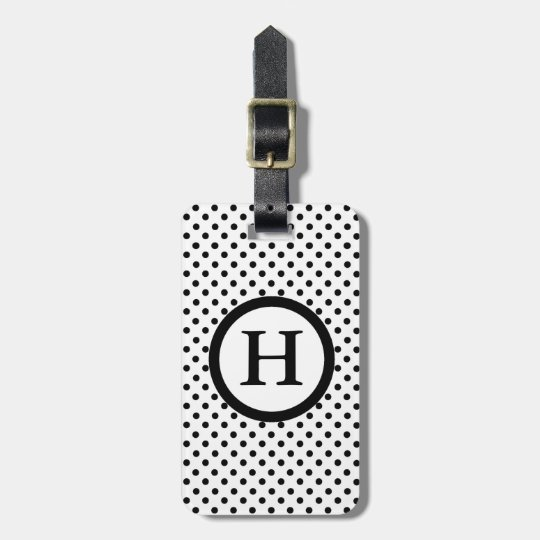 CHIC LUGGAGE/BAG TAG_07 DOTS /WHITE /MONOGRAM LUGGAGE TAG