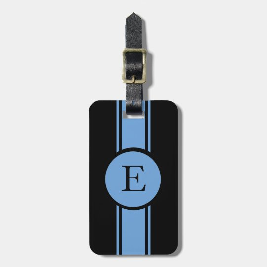 CHIC LUGGAGE/BAG TAG_153 BLUE/BLACK/MONOGRAM LUGGAGE TAG