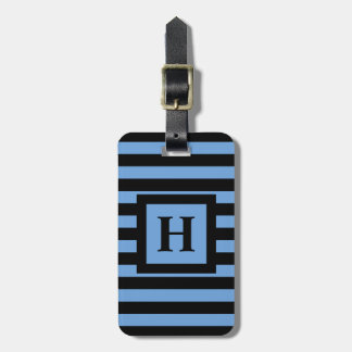 CHIC LUGGAGE/BAG TAG_153 BLUE/BLACK STRIPES BAG TAG