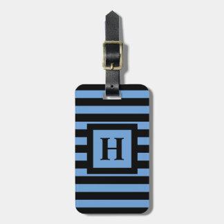 CHIC LUGGAGE/BAG TAG_153 BLUE/BLACK STRIPES TRAVEL BAG TAGS