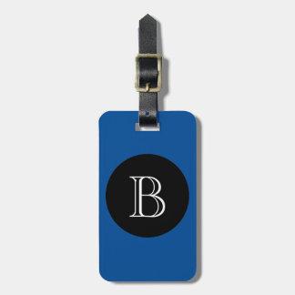 CHIC LUGGAGE/BAG TAG_156 BLUE/BLACK/MONOGRAM LUGGAGE TAG