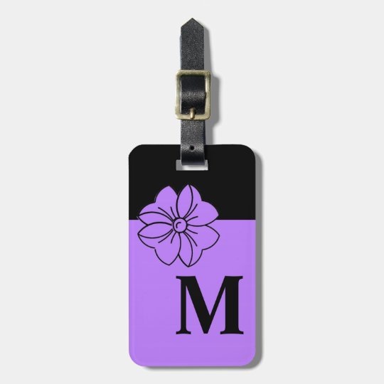 CHIC LUGGAGE/BAG TAG_191 PURPLE/BLACK/MONOGRAM LUGGAGE TAG