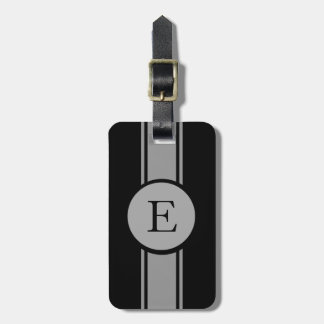 CHIC LUGGAGE/BAG TAG_252 GRAY/BLACK/MONOGRAM LUGGAGE TAG