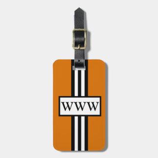 CHIC LUGGAGE/GIFT TAG_32 ORANG/WHITE/BLACK LUGGAGE TAG