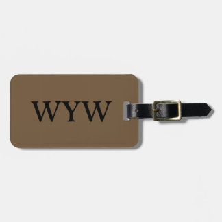 CHIC LUGGAGE/GIFT TAG_39 BROWN SOLID BAG TAG