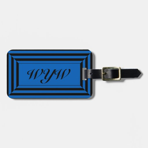 CHIC LUGGAGE/GIFT TAG_GEOMETRIC _2 TAGS FOR BAGS