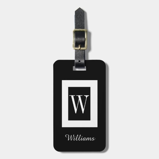 CHIC LUGGAGE TAG_BLACK/WHITE LUGGAGE TAG