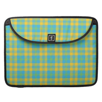 Chic MacBook Pro Sleeve: Blue, Yellow, Green Plaid Sleeve For MacBooks