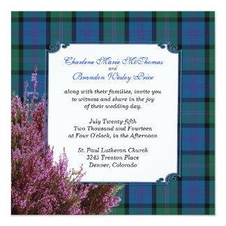Chic MacThomas Tartan Plaid Heather Wedding Card