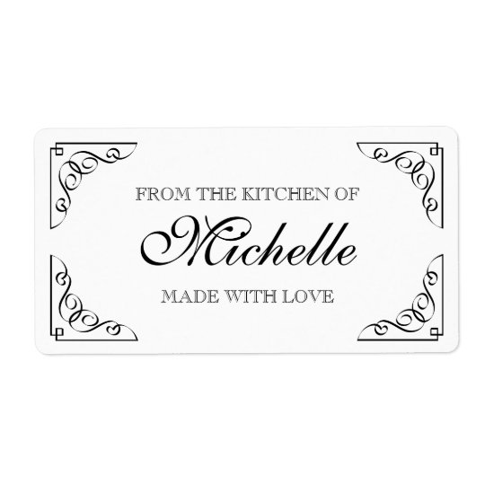 Chic Made with love From the kitchen of food label