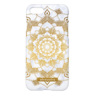 Chic Marble and Gold Mandala Pattern iPhone 8/7 Case