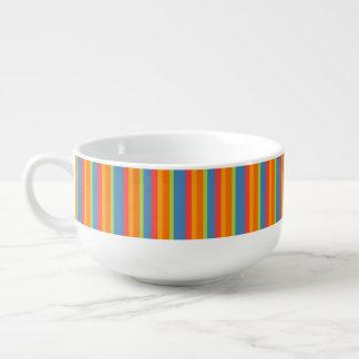 Chic Marigold Medley Striped Ceramic Soup Mug