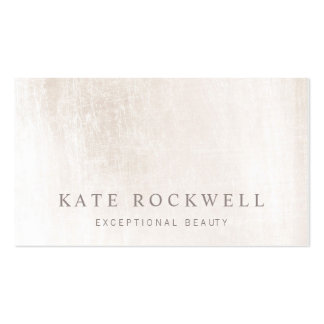 Chic Minimalist Ivory White Stone Pack Of Standard Business Cards