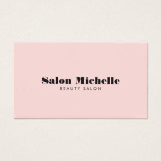 Chic Minimalist Pink Beauty Salon Business Card