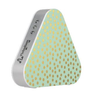 Chic Mint Gold Confetti Dots