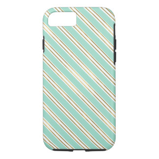 Chic Mint Gold Stripes iPhone 8/7 Case