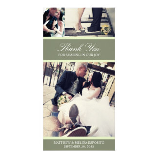 CHIC MINT GRATITUDE   WEDDING THANK YOU CARD CUSTOMISED PHOTO CARD