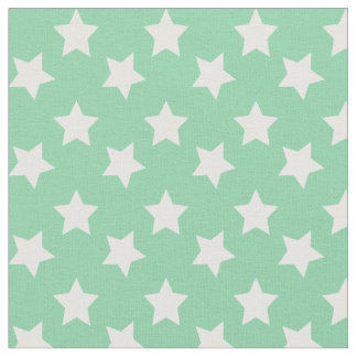 Chic Mint Green Stars Space Pattern Fabric