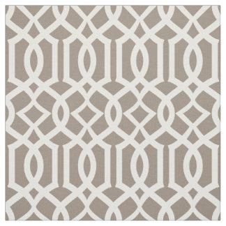 Chic Mocha Brown Trellis Lattice Pattern Fabric