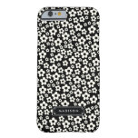 Chic Mod Black White Floral Personalised Barely There iPhone 6 Case