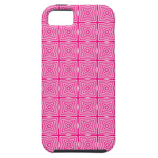 CHIC MOD GEO #1 HOT PINK/WHITE CASE FOR THE iPhone 5