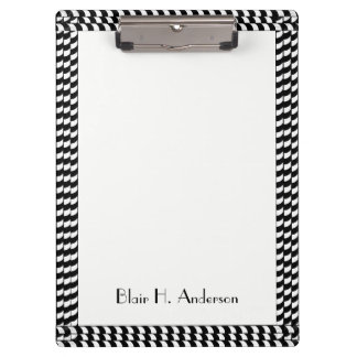 CHIC MOD WHITE AND BLACK STRIPED BOARDER CLIPBOARD