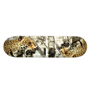 chic modern africa safari leopard skate board decks
