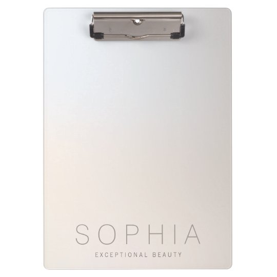 Chic Modern Beauty Minimalist Luminous Silver Clipboard