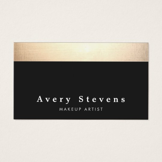 Chic Modern Black and Gold Business Card