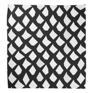 Chic Modern Black and White Pattern Bandana