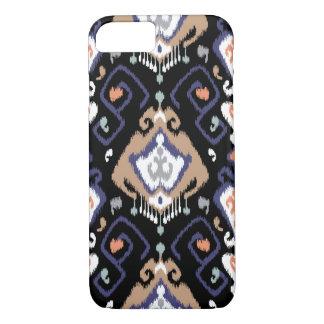 Chic modern dark ikat tribal pattern iPhone 8/7 case