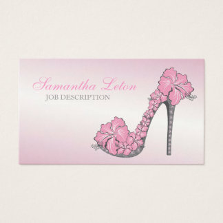 Chic Modern Floral High Heel Pump Shoe