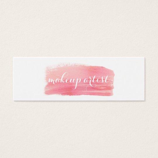 chic modern makeup artist watercolor pink elegant mini