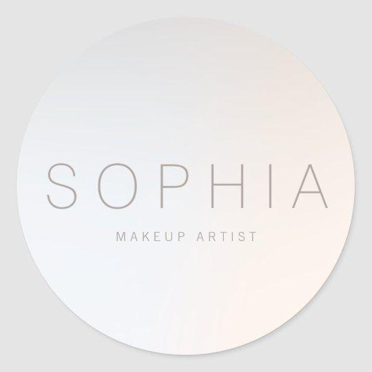 Chic Modern Minimalist Beauty Salon Round Sticker