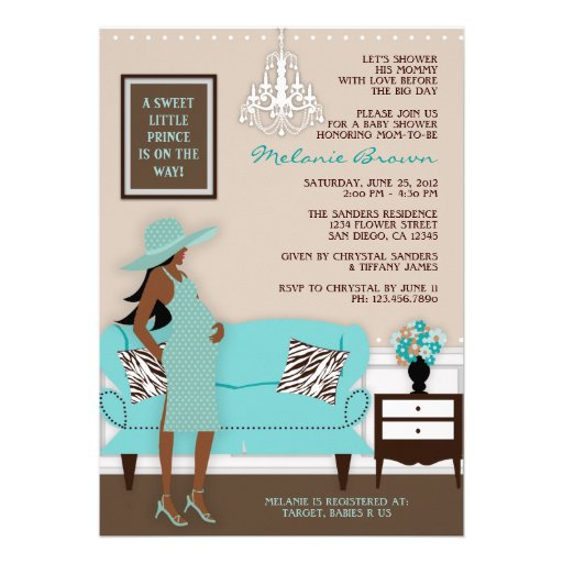 Chic Modern Mom Baby Shower Invite