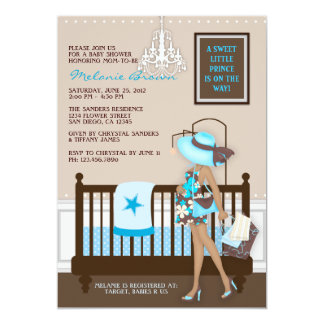 Chic Modern Mom Contemporary Baby Shower Invite